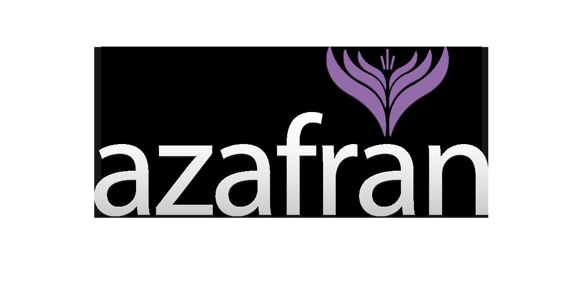 Azafran logo on dark background