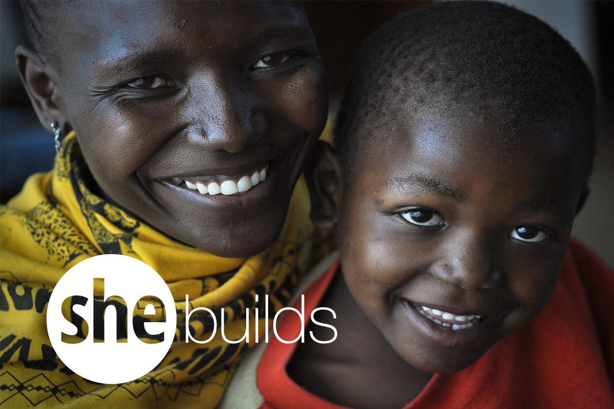 Logo, she builds
