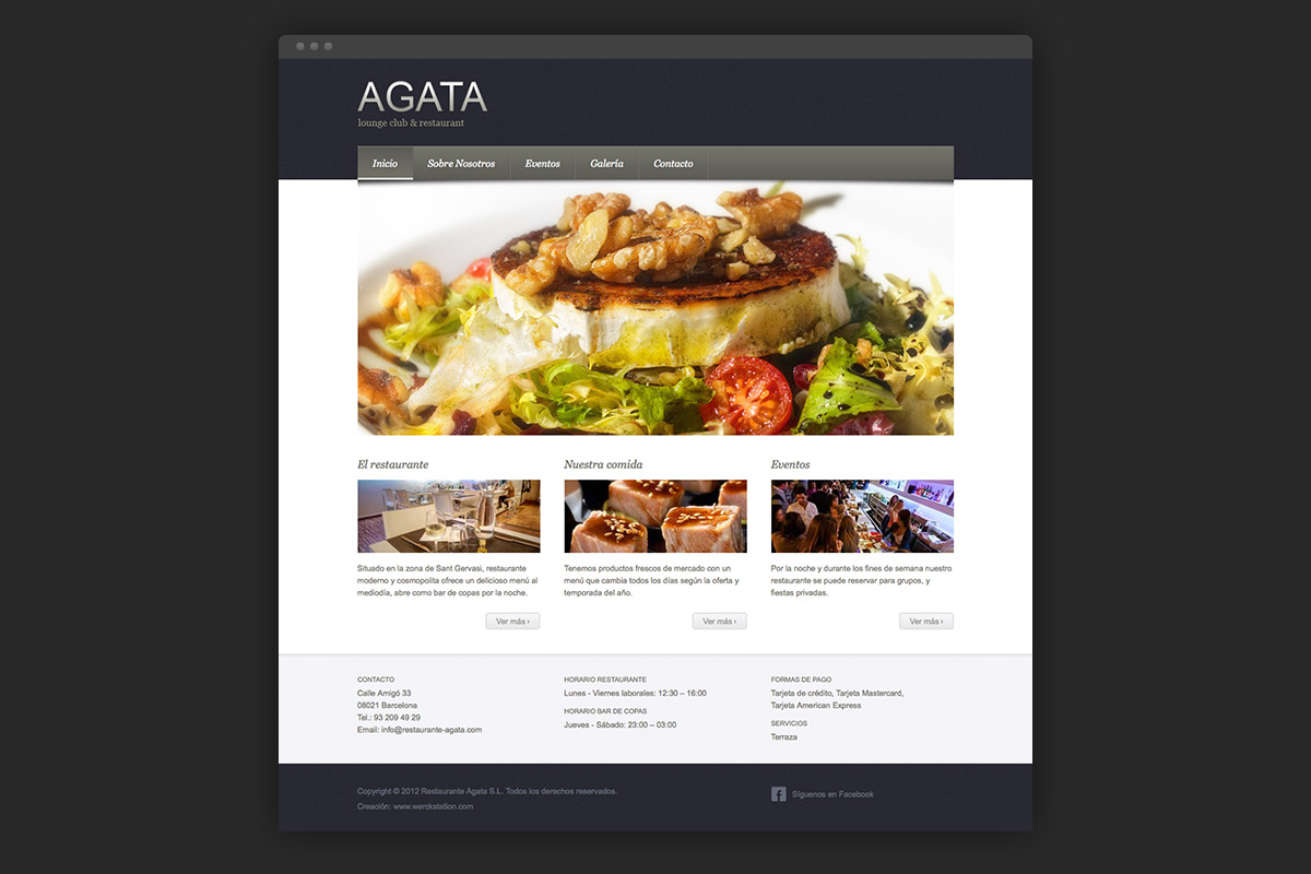 Homepage Agata restaurant