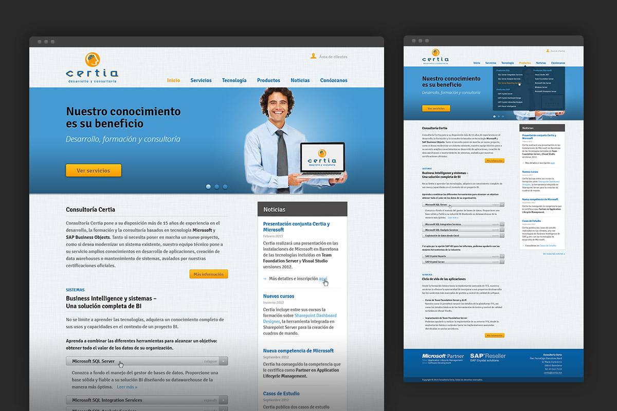 Certia homepage
