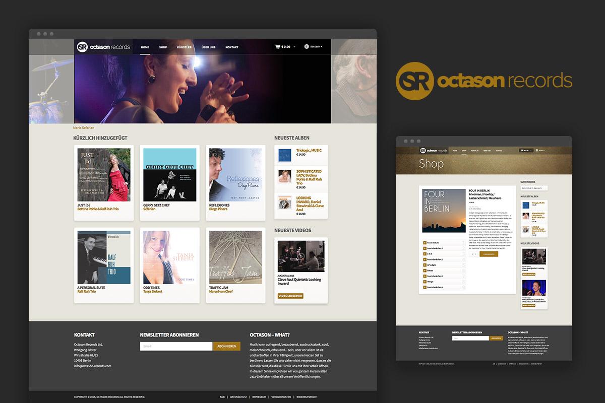 Octason records website