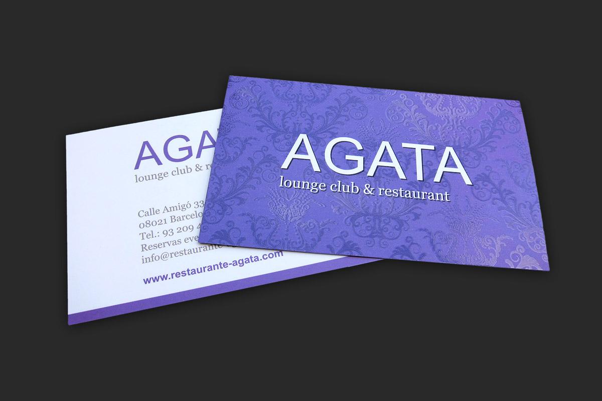 Businesscard design for Agata