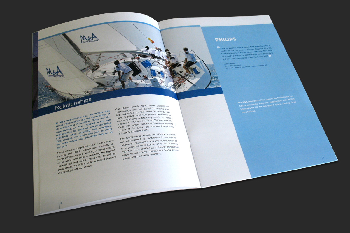 Corporate Brochure, inside spread